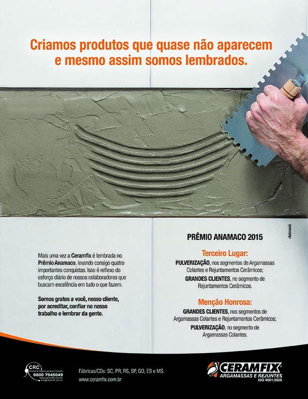 Ceramfix vencedora no Prêmio Anamaco 2015
